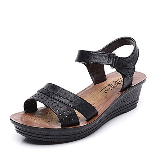 Sandales d'été pour les femmes/Chaussures souples anti-dérapant/Mamans épaisses sandales A