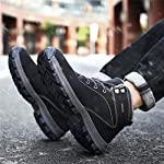 UBFEN Mens Womens Snow Boots Winter Warm Plush Booties Outdoor Sports Walking Hiking High Top Shoes 13