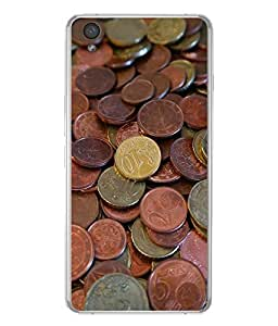 FUSON Designer Back Case Cover for OnePlus X :: One Plus X (Gold Colour Background One Rupee Coin)