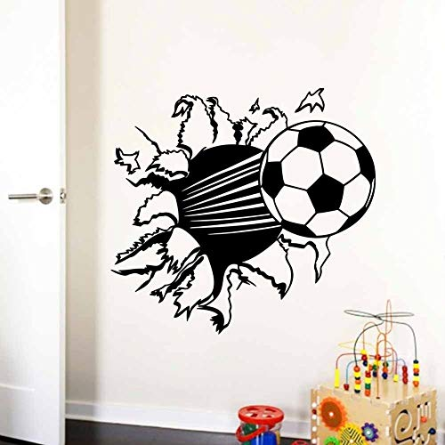 Apliques Pegatinas de pared de PVC de vinilo de fútbol D para habitaciones de niños decoración para el hogar Pegatinas removibles decoración XCM