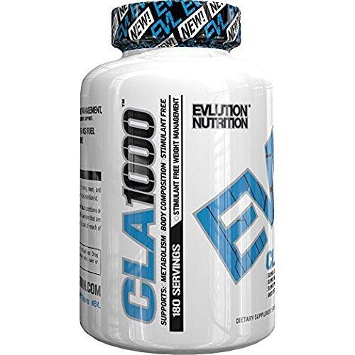 Evlution Nutrition CLA 1000 | Suplemento Alimenticio Natural En Pastillas Con Ácido...
