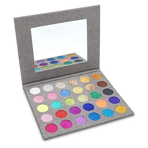 RSKD Lidschatten Gedrückt Glitter Pallete 30 Farben Glitter Lidschatten Kosmetik Lidschatten Make-Up Palette Maquiagem Profissional Completa (Gedrückt Glitter Lidschatten)