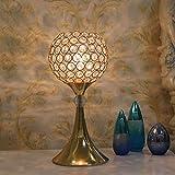 Yhongyang Europäische Stil Kristall Tischlampe Einfache Moderne Luxus Fernbedienung Tischlampe Schlafzimmer Nachttisch Goldene Tischlampe