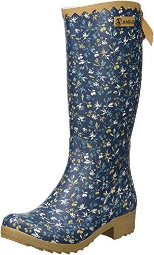 Aigle - Victorine Gummistiefel - Botte en caoutchouc non - Fourrée - Tige Haute - Femme Multicolore (Hashley)