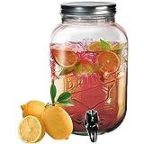 OOTB Drink Dispenser/Vintage Jar, Clear, 15 x 15 x 26 cm
