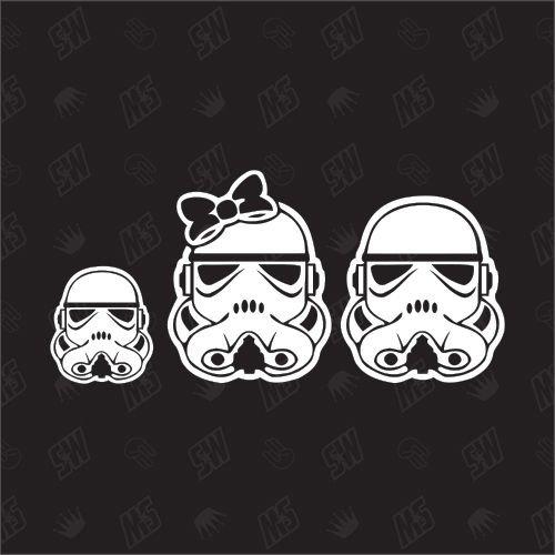Star Wars Family with 1 boy - Sticker