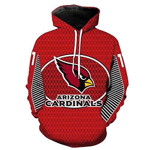 WLDSH Basketball Fan Sport Pullover Neues, langärmeliges Trainings-Trikot mit Kapuze von Arizona Cardinals (Size : L) - Langärmelige Trikot
