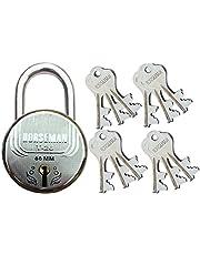 Horseman T-26 7 Levers Steel Door Lock Very Useful for Main Door of Apartments & Marketing Complex (12 Keys_122)