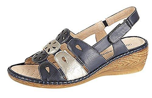 ladies-touch-fastening-sling-back-sandals-with-elasticated-vamp-wedge-heel-sizes-345678-uk-8-uk-navy