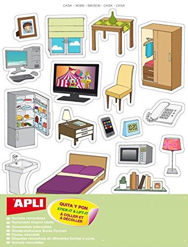 Gommettes Design-Haus - 60 Tabletten-APLI AGIPa - 60 Tabletten-designs