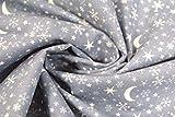 Westfalenstoffe Baumwolle winterliche Motive Mond/Sterne
