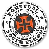 2 x 10cm/100 mm Portugal Europe Autocollant de fenêtre en verre Voiture Van Locations #4529