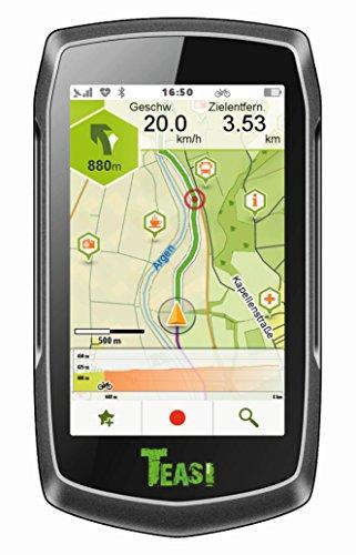 Teasi one³–Outdoor di sci e snowboard navigazione/Dispositivo di Navigazione con Bluetooth e mappa Europa, Unisex, Fahrradnavigationsgerät, nero