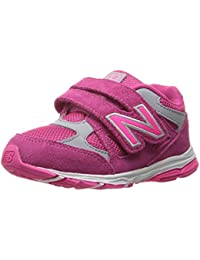 New Balance Girls' KV888 Running Shoe, Pink/Grey, 2.5 Extra Wide US Little Kid