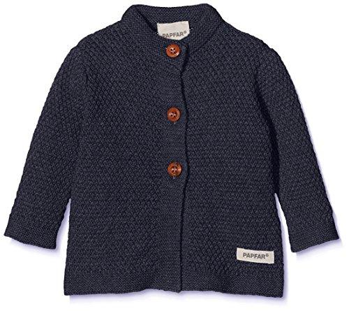 Papfar Unisex Baby Knit Strickjacke, Blau (Blue Nights 287), 56 (Herstellergröße: 0M)
