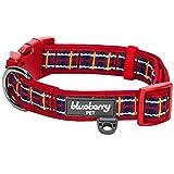 Blueberry Pet Collier pour chiens 2,5 cm Grand Modèle - L Inspiration Tartan Ecossais Classique Motif Plaid Designer Rembourré Collier chien