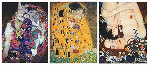Dcine Cuadros Decorativos/Set 3 Pinturas Artista Klimt/Lámina