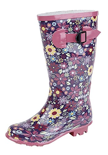 Stormwells Junior Girls Flower Patterned Wellies. Sizes 11-2 Junior