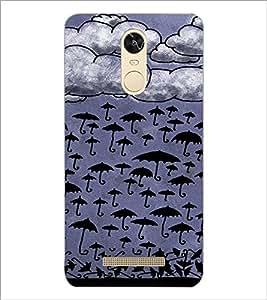 PrintDhaba Umbrellas Design D-3488 Back Case Cover for XIAOMI REDMI NOTE 3 (Multi-Coloured)