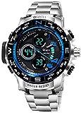 Wrath Luxury Singularity Analog & Digital Blue Luxury Metal Chain Wristwatch for Men & Boys