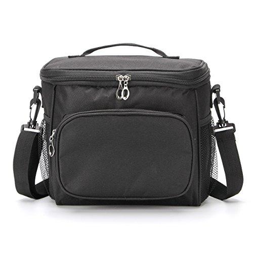 Gogogoal cooler bag, borsa termica per il pranzo, 10l/30can packpack per picnic campeggio spiaggia, nero