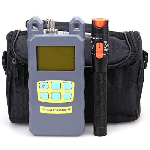 FTTH-Faserwerkzeugset, 10mW, optisches Fehldiagnosegerät, optisches Faserkabel, optischer Leistungsmesser mit inhaltsloser Werkzeugtasche, 3-teiliges Set Laser Power Meter