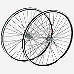 28 Zoll CHILL Laufräder Aluminium Hinten oder Vorne viele Farben Double Wall Laufradsatz, Farbe:Schwarz, Ausführung:Vorne und Hinten