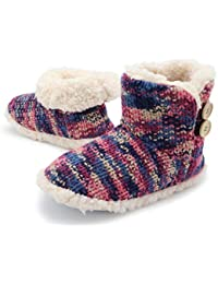 77f6258ec0c Indoor Outdoor Slipper Boots for Women Warm Cosy Super Soft Scotty Dog  Velvet Knitted Womens Booties
