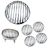 #7: Allextreme Bajaj Avenger Combo Heavy Metal Headlight Grill Crome+ Indicator Grill Set And Tail Light Grill For Bajaj Avenger 150Cc(Chrome)