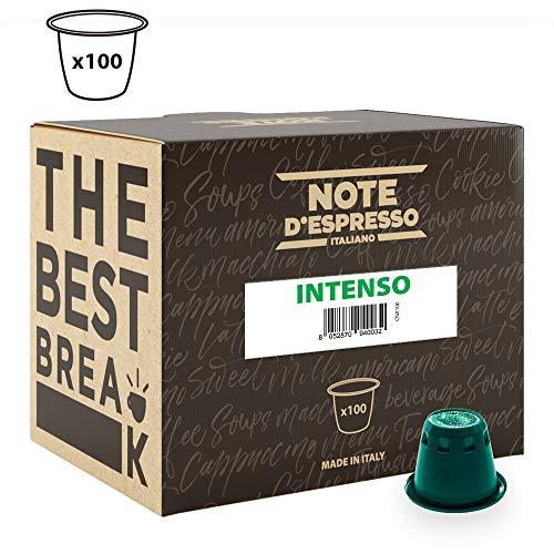 Note D'Espresso Cápsulas de Café Intenso exclusivamente compatibles con cafeteras Nespresso* - 100...