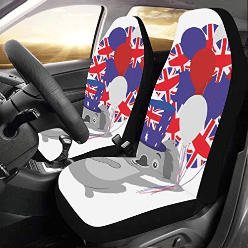 Koala Design Australien Flagge Benutzerdefinierte Neue Universal Fit Auto Drive Autositzbezüge Schutz Für Frauen Automobil Jeep Lkw Suv Fahrzeug Full Set Zubehör Für Erwachsene Baby (set Von 2 Vorne)