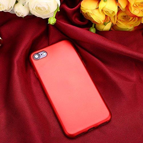 Auntwhale iPhone 7 Fall iPhone 8 Fall Fingerabdruck beständig, schweißresistent. Bietet Schutz vor Kratzern, Stößen, Schmutz, Fett - rot -