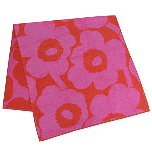 Marimekko - Unikko - Badetuch - Rot/Pink - Baumwolle - 75x150 cm