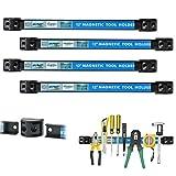Cozyswan 4 Stück 12 Zoll Magnetwerkzeughalter Racks, Metall Werkzeug Veranstalter Bar für Garage Werkstatt