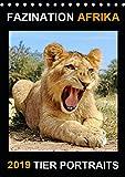 FAZINATION AFRIKA TIER PORTRAITS (Tischkalender 2019 DIN A5 hoch)