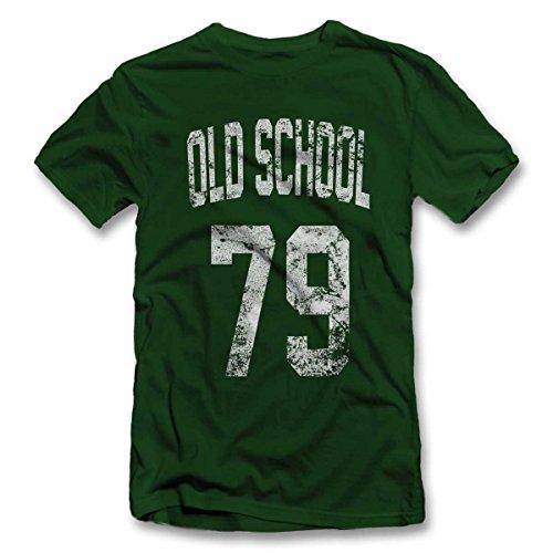 Shirtground Oldschool 1979 T-Shirt Dunkelgruen-Dark-Green