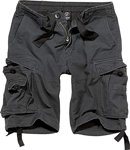 Brandit Vintage Short  Gr:- L, Farbe:-Schwarz Kurzer Zip-jacke