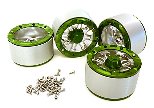 Integy RC Model Hop-ups C24326GREEN V2 Billet Machined Alloy Dual 8 Beadlock Wheel (4) for Axial Wraith w/ 12mm Hex -