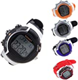 douself Unisex Irregular Monitor Pulse Watch Exercise Gym Sportwatch[Calculate your Heart Rate Calorie Burned while Exercising,5 Modes,Individual Data]