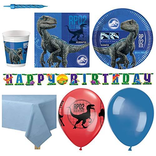 Jurassic World Dinosaurier Kindergeburtstag Premium Party Set - Für 16 Personen