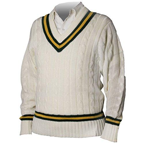 "Cricket Sports Pullover Acryl Uni Pullover Jumper Marineblau/Rot, S 34/36"""