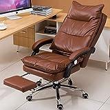 ZHM 150 ° zurückliegender Computer Stuhl, Verstellbarer Drehstuhl Office Home Stuhl Rückenlehne Lift Armlehne Weiß Schwarz (Farbe : Brown)