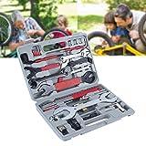 44pcs Profesional Set de Herramientas para Reparación de Bicicleta Motocicleta Kit de Herramienta Llave de Mano Punción de Ciclo Bomba del Neumático con Maleta