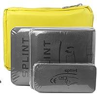 Splints Schiene: 3 Größenpackungen Splintschiene Immobilisationsschiene für Verletzte Finger, Hals, Bein, Knie, Fuß, Handgelenk, Hand, Arm Verletzungen mit einer Handtasche