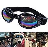 DUBENS Hundebrille Sonnenbrille wasserdichten Schutz Sun-Brille, UV-Schutz Fashion Eyewear Goggles Schutzbrille Hundebrillen Sonnenschutz Brillen Für Haustier Hunde Dog (Schwarz)
