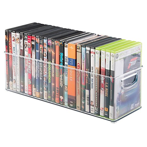mdesign video16inclr, plastik, farblos, DVD Storage Bin -