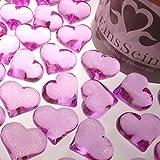 30x Dekosteine FUNKELNDE Herzen 22mm EinsSein® pink Dekoration Streudeko Konfetti Tischdeko Hochzeit