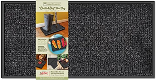 Grassworx 10376363 Drain & Dry Boot Tray Fußmatte, Flint, 14' x 28'