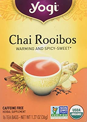 Yogi Tea, Chai Rooibos, Caffeine Free, 16 Tea Bags, 1.27 oz (36 g)