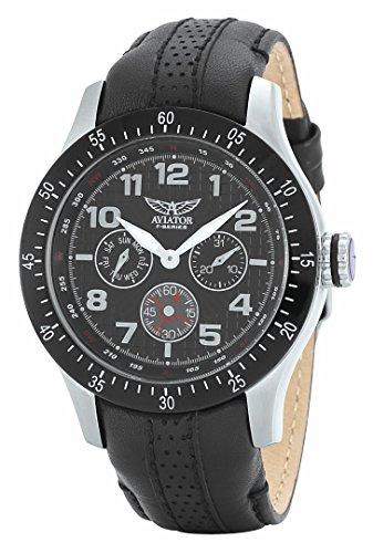 aviador-para-hombre-avw4623g166-multi-dial-reloj-de-acero-inoxidable-con-correa-de-piel-color-negro